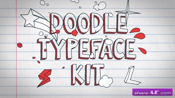 Videohive Doodle Typeface Kit