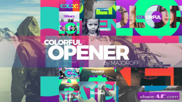 Videohive Colorful Opener 17049894