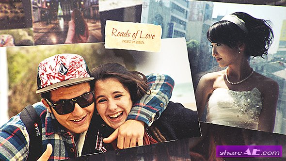 Videohive Roads of Love - Romantic Slideshow
