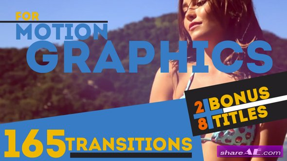 Videohive 165 Transitions & 28 Titles Pack Motion Graphics