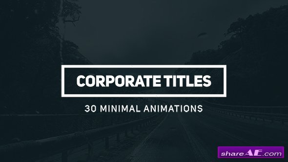 Videohive Corporate Titles