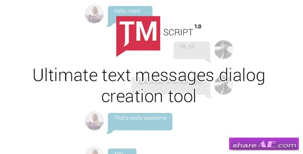 Videohive Text Messages Ultimate Kit | TMScript 1.01