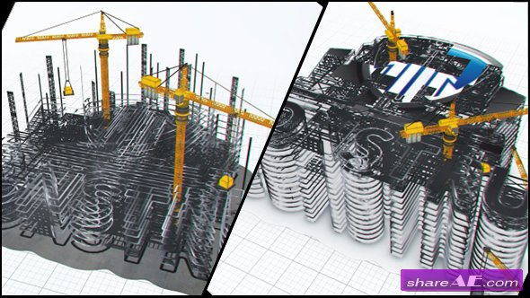 Videohive Construction Company Logo Buildup