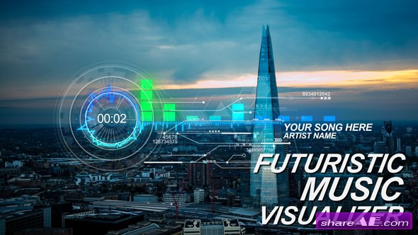 Videohive Futuristic Music Visual