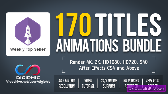 Videohive 170 Titles Animations Bundle