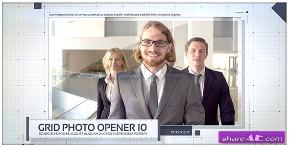 Videohive Grid Photo Opener - Corporate Slideshow