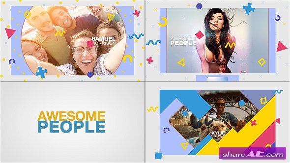 Videohive Awesome People Slideshow