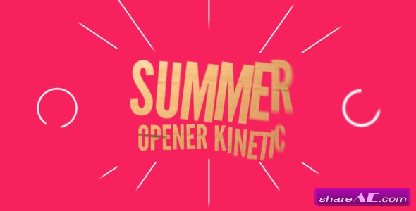 Videohive Summer Opener Kinetic