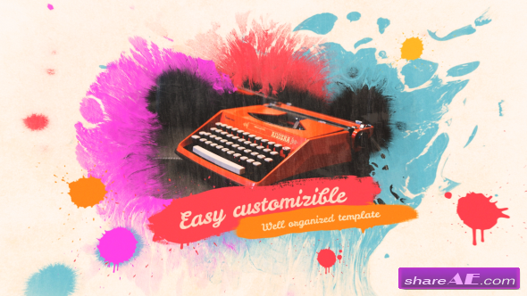 Videohive Colorful Ink Slideshow