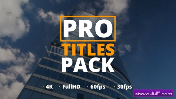 Videohive Pro Titles Pack
