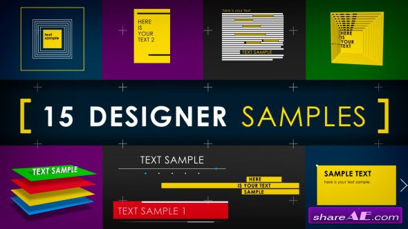 Videohive 15 Designer Samples (Pack)