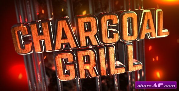 Videohive Charcoal Grill Logo Reveal