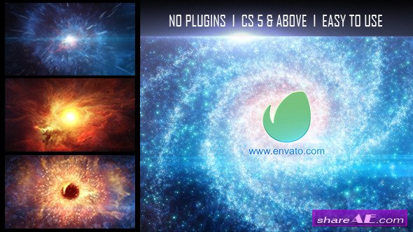 Videohive Galaxy Logo Reveal