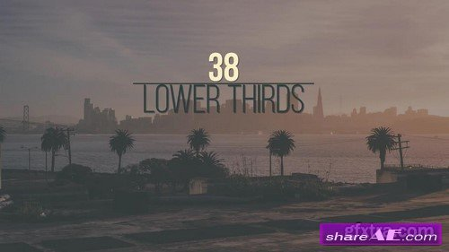 38 Lower Thirds - After Effects Project (Motion Array)