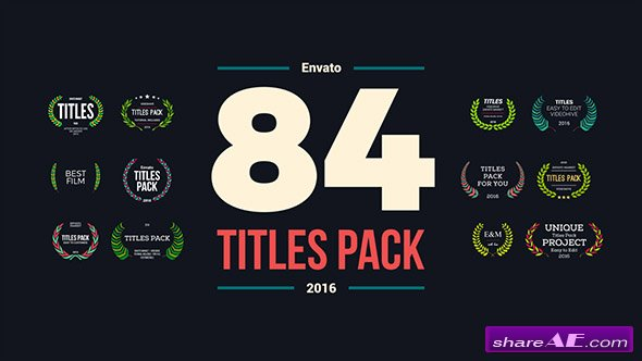 Videohive 84 Titles Pack