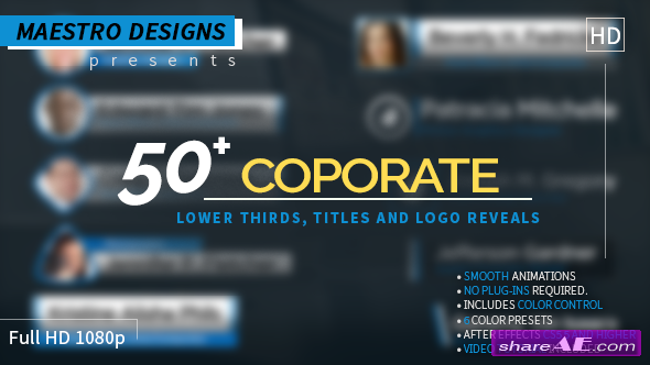 Videohive Coporate Lower Thirds Titles And Logos Pack