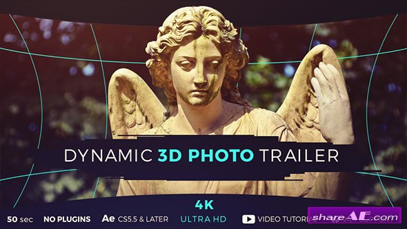 Videohive Dynamic 3D Photo Trailer