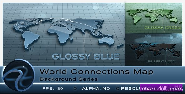 World Connections Map Background - Motion Graphic (Videohive)
