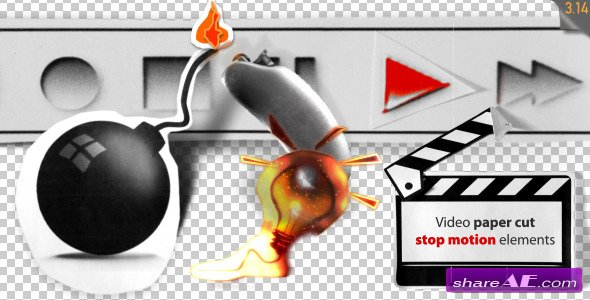 Stop Motion Video Paper Cut Elements - Motion Graphic (Videohive)