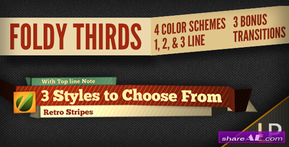 Videohive Foldy Lower Thirds