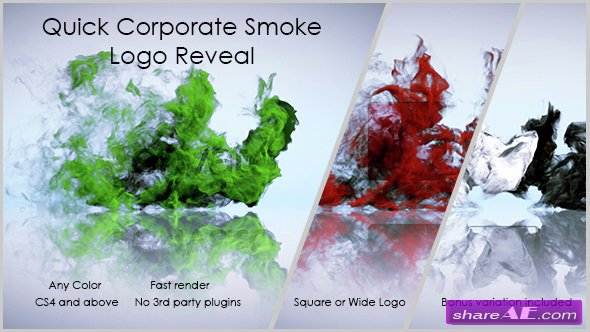 Videohive Quick Corporate Smoke Logo Reveal