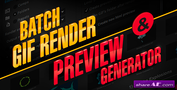 Videohive aw_PreviewGenerator | After Effects Script