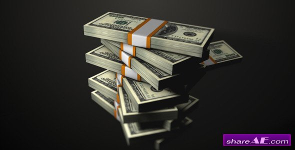 Stacked Dollars Falling - Motion Graphic (Videohive)