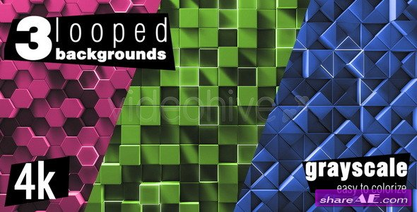 Simple Geometry Background Pack - Motion Graphic (Videohive)
