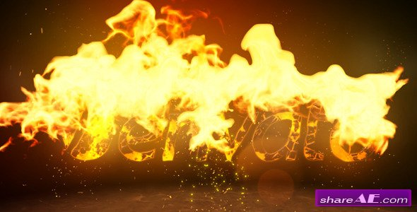 Videohive Fire Logo Reveal 4663555