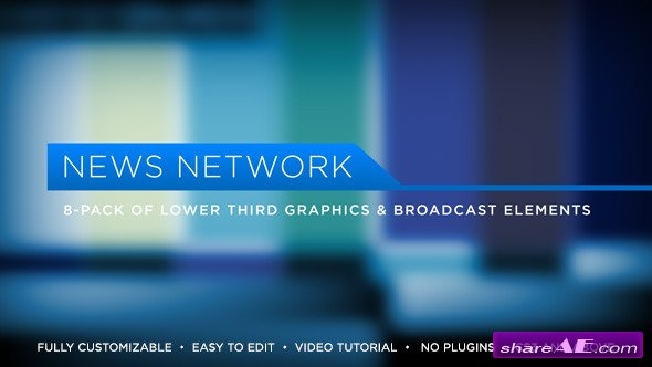 Videohive News Network Lower Thirds