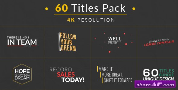 Videohive 60 Titles Pack