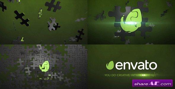 Videohive Puzzle Logo Animation Element 3D
