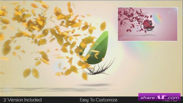 Videohive Flying Leaves Logo Reveal