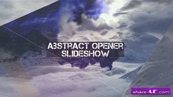 Videohive Abstract Opener - Slideshow