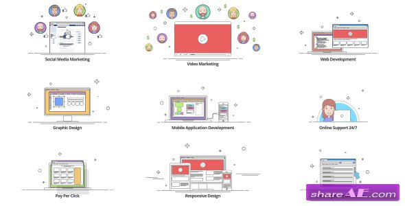 Videohive Outline - Explainer Kit