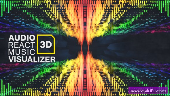 Videohive Audio React Music Visualizer 3D