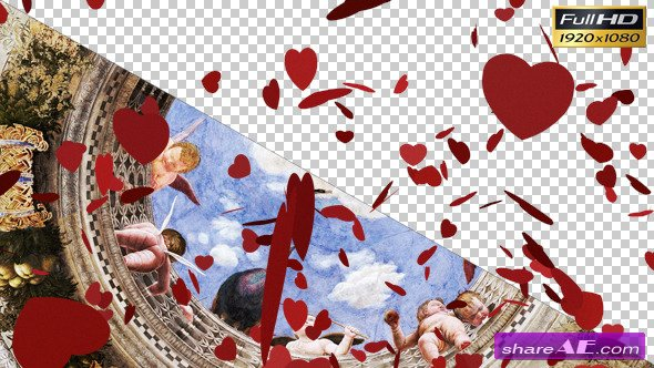 Falling Valentine Hearts - Motion Graphic (Videohive)