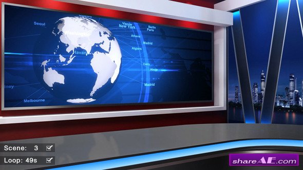 news studio 58 motion graphic videohive free after effects templates after effects intro. Black Bedroom Furniture Sets. Home Design Ideas