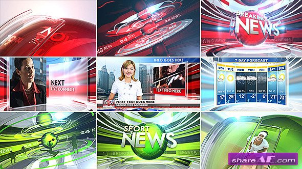 Videohive 24 Broadcast News - Complete Package » free after
