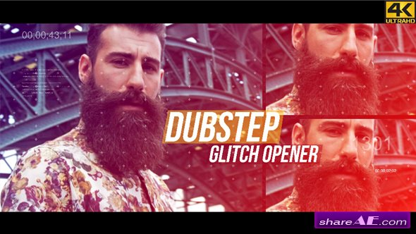 Videohive Dubstep Glitch Opener - 4K