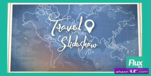 Videohive Map Travel Slideshow