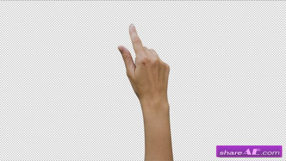 14 Footage Female Hand Gestures Touchscreen - Stock Footage (Videohive)