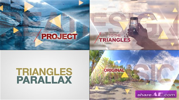Videohive Triangles World of Parallax