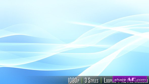 HD Flowing Wave - Series of 3 - LOOP with AE File - Motion Graphic (Videohive)