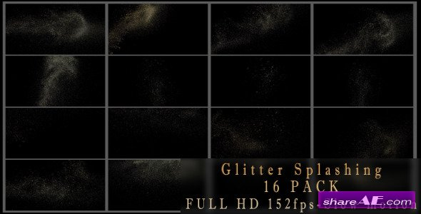 Glitter Splashing 16 Pack - Motion Graphic (Videohive)