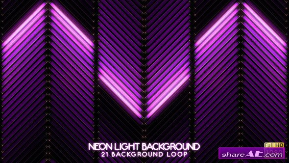 Neon Light VJ Backgrounds - Motion Graphic (Videohive)