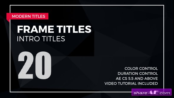Videohive Frame Titles 2