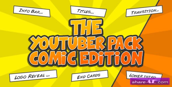 Videohive The YouTuber Pack - Comic Edition