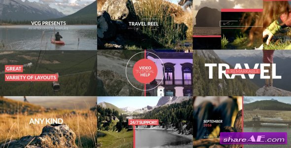 Videohive Travel Reel With Titles