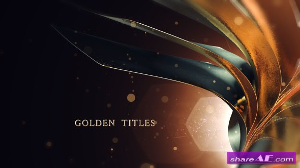 Videohive Golden Titles